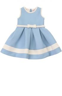 Платье из вискозы с поясом Monnalisa