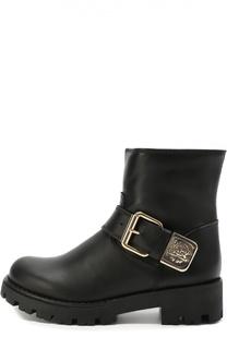 Кожаные ботинки с пряжкой Roberto Cavalli
