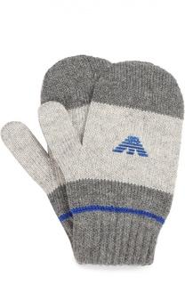 Варежки с логотипом бренда Giorgio Armani