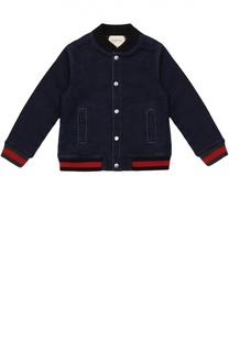 Джинсовая куртка с манжетами Gucci