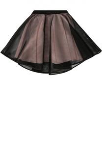 Многослойная юбка с сеткой Monnalisa