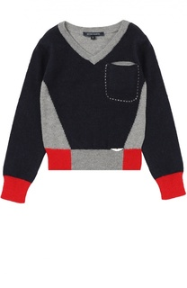 Шерстяной пуловер с контрастной отделкой Aston Martin