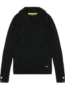 Шерстяной свитер с шалевым воротником Aston Martin