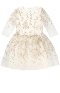 Приталенное платье с вышивкой David Charles