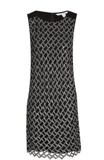 Платье прямого кроя без рукавов с вышивкой пайетками Diane Von Furstenberg