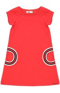 Платье прямого кроя с контрастной отделкой Jean Paul Gaultier
