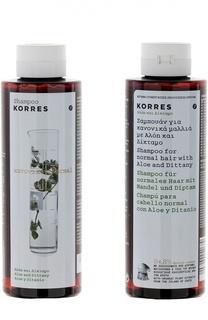 Шампунь для нормальных волос с алоэ и диким бадьяном Korres