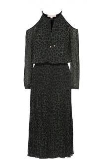 Приталенное платье на кулиске с открытыми плечами Michael Michael Kors