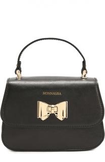 Кожаная сумка с бантом Monnalisa