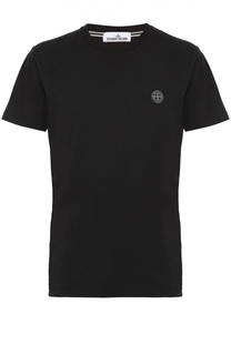 Хлопковая футболка с принтом на спине Stone Island
