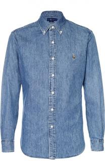 Джинсовая рубашка с воротником button down Polo Ralph Lauren