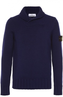 Шерстяной свитер с шалевым воротником Stone Island