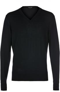 Шерстяной пуловер с V-образным вырезом Tom Ford