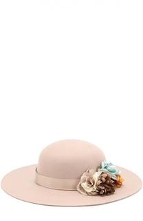 Шляпа из фетра с цветами Monnalisa