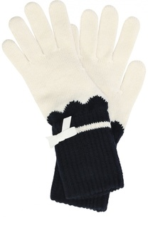 Вязаные перчатки с бантом Giorgio Armani
