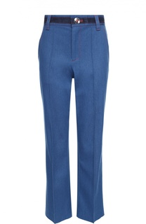 Укороченные расклешенные джинсы с контрастной отделкой Marc Jacobs