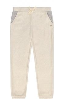Хлопковые брюки с эластичным поясом Juicy Couture