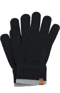 Вязаные перчатки из шерсти Giorgio Armani