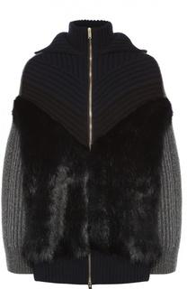 Вязаная куртка с капюшоном и декоративной отделкой Stella McCartney
