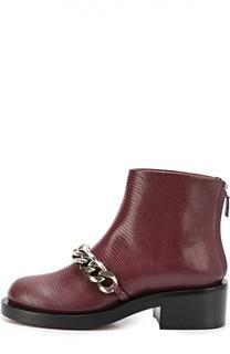 Кожаные ботинки с металлической цепью Givenchy