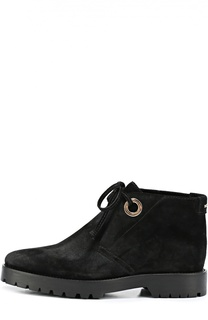 Замшевые ботинки на шнуровке Burberry