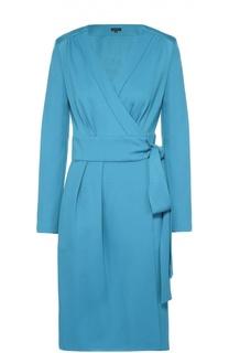 Платье с запахом и длинным рукавом Escada