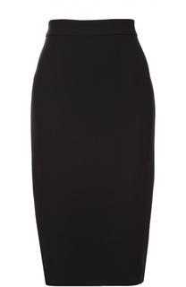 Шерстяная юбка-карандаш с разрезом Escada