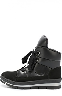 Текстильные ботинки с отделкой замшей Jog Dog
