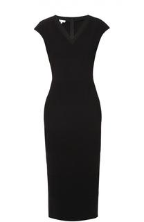 Платье без рукавов с V-образным вырезом и фактурной отделкой Escada Sport