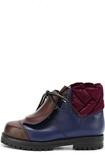 Кожаные ботинки со скрытой шнуровкой Marco de Vincenzo