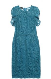 Приталенное кружевное платье без рукавов Escada