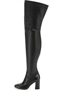 Кожаные ботфорты на устойчивом каблуке Michael Michael Kors