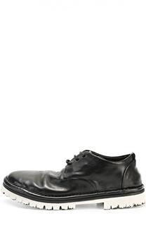 Кожаные ботинки на контрастной подошве Marsell