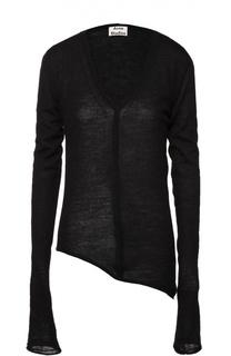 Пуловер асимметричного кроя с V-образным вырезом Acne Studios