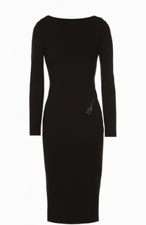 Платье-футляр с декоративной молнией и открытой спиной Tom Ford