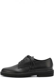Кожаные ботинки на подошве с рифлением Sergio Rossi