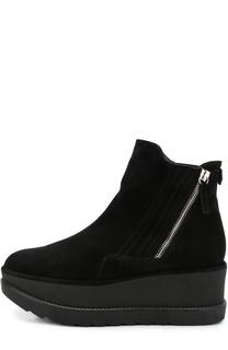Замшевые ботинки на платформе Stuart Weitzman