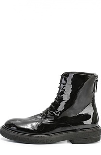 Лаковые ботинки на массивной подошве Marsell