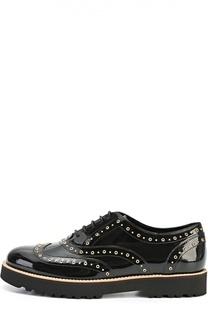 Лаковые ботинки с люверсами Hogan