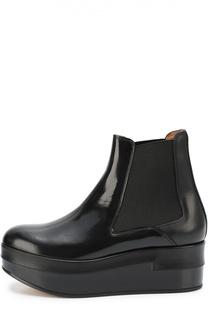 Кожаные ботинки на платформе Maison Margiela