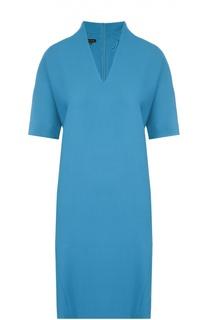 Платье прямого кроя с V-образным вырезом и укороченным рукавом Escada
