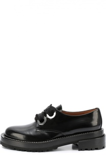 Лаковые ботинки на шнуровке Marni