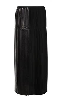 Плиссированная юбка-макси с металлизированной отделкой Stella McCartney