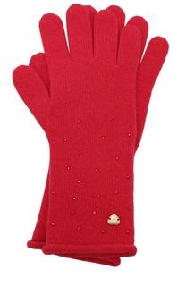 Вязаные перчатки со стразами Giorgio Armani