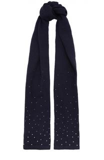 Вязаный шарф со стразами Giorgio Armani