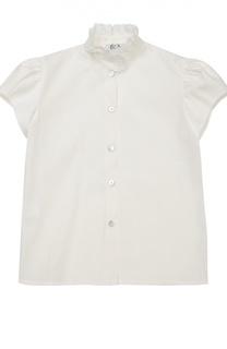 Блуза с коротким рукавом и кружевной отделкой Caf