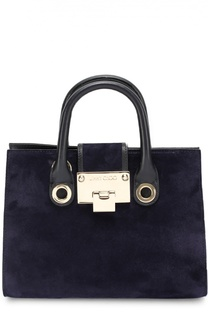 Замшевая сумка Riley S с отделкой из кожи Jimmy Choo