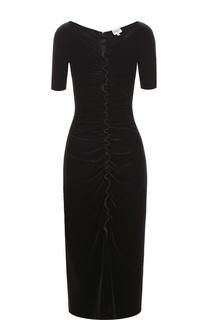 Платье-футляр с коротким рукавом и драпировкой Armani Collezioni