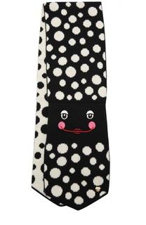 Вязаный шарф с рисунком и вышивкой Giorgio Armani