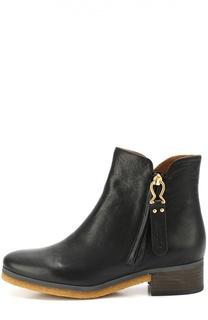 Кожаные ботинки с боковой молнией See by Chloé